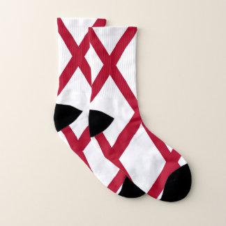 All Over Print Socks with Flag of Alabama, USA