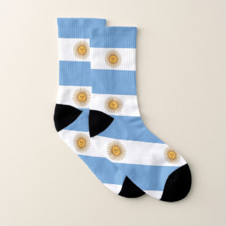 All Over Print Socks with Flag of Argentina 1