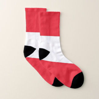 All Over Print Socks with Flag of Austria 1