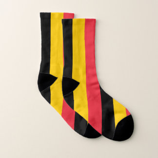 All Over Print Socks with Flag of Belgium 1