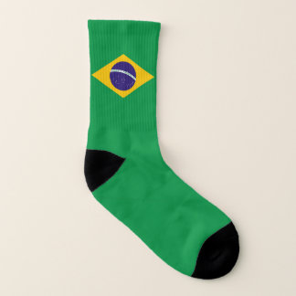 All Over Print Socks with Flag of Brazil