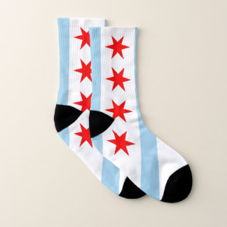 All Over Print Socks with Flag of Chicago 1
