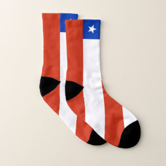 All Over Print Socks with Flag of Chile 1