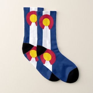 All Over Print Socks with Flag of Colorado 1