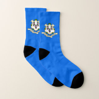 All Over Print Socks with Flag of Connecticut 1