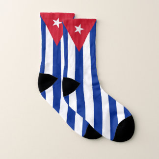 All Over Print Socks with Flag of Cuba 1