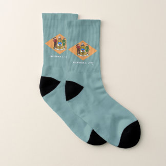 All Over Print Socks with Flag of Delaware 1