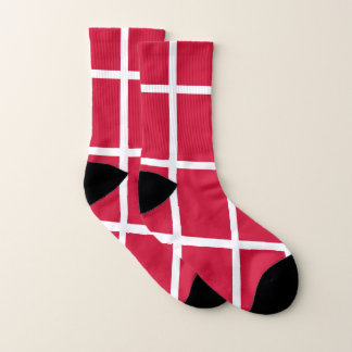 All Over Print Socks with Flag of Denmark 1