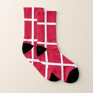 All Over Print Socks with Flag of Denmark 1