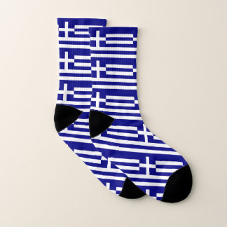 All Over Print Socks with Flag of Greece