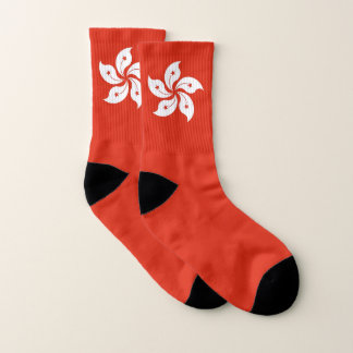 All Over Print Socks with Flag of Hong Kong 1
