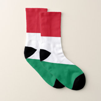 All Over Print Socks with Flag of Hungary 1