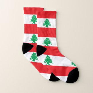 All Over Print Socks with Flag of Lebanon