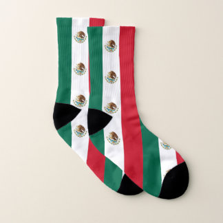All Over Print Socks with Flag of Mexico 1