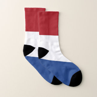 All Over Print Socks with Flag of Netherlands
