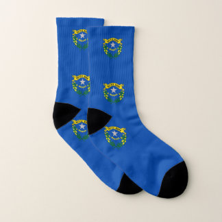 All Over Print Socks with Flag of Nevada