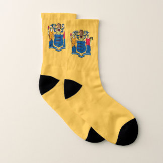 All Over Print Socks with Flag of New Jersey 1