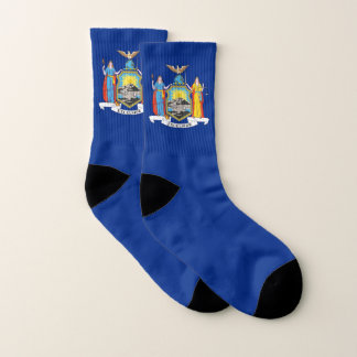 All Over Print Socks with Flag of New York 1
