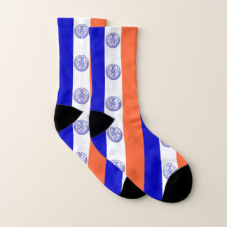 All Over Print Socks with Flag of New York City 1