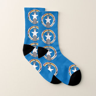 All Over Print Socks with Flag of Northern Mariana 1