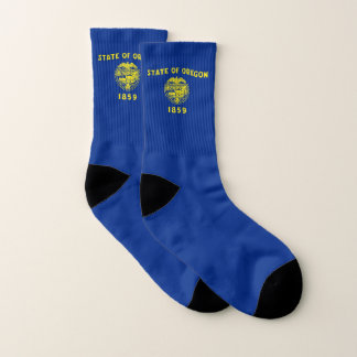 All Over Print Socks with Flag of Oregon 1