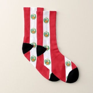 All Over Print Socks with Flag of Peru 1