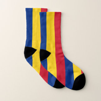 All Over Print Socks with Flag of Romania 1