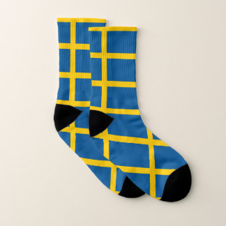 All Over Print Socks with Flag of Sweden 1