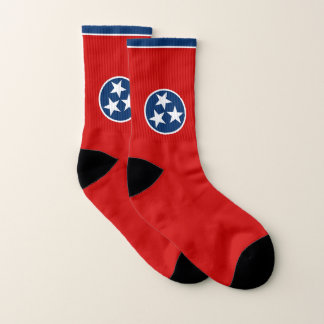 All Over Print Socks with Flag of Tennessee 1