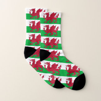 All Over Print Socks with Flag of Wales 1