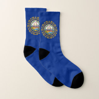 All Over Print Socks with New Hampshire Flag