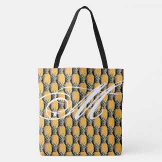 all-over-print tote bag of tropical pineapples