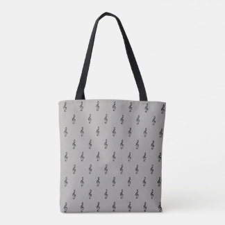 all_over_printed musical notes tote bag
