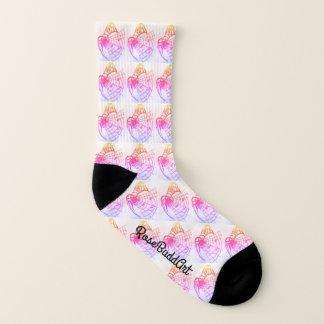 All-Over-Printed Socks,Small,Black and white Socks
