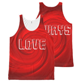 All-Over Printed Tank top-RED abstract-Love always