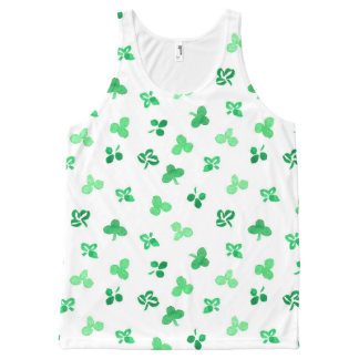 All-over printed tank with clover leaves