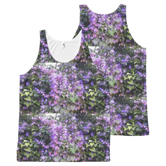 All Over Purple / Mauve Flowered Tank Top