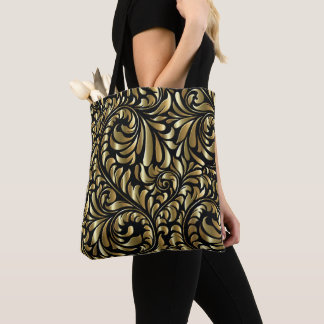 All-Over Tote - Drama in Black and Gold