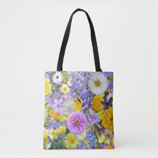 All-Over Tote - Flowers and Butterflies