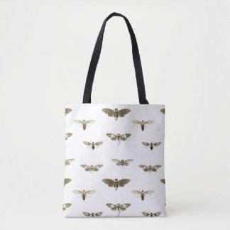 All-over Vintage Cicada Illustration Tote