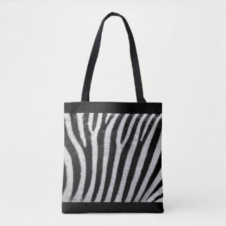 All-Over Zebra Print Tote Bag