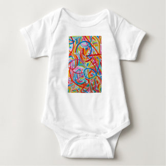 All Paths End There- Abstract Art Hand Painted Baby Bodysuit
