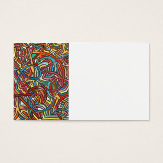 All Paths End There- Abstract Art Hand Painted Business Card