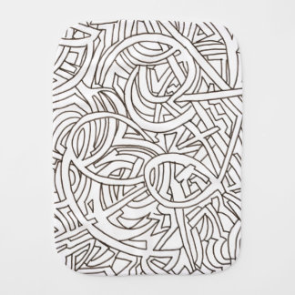 All Paths End There-Black and White Burp Cloth