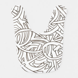 All Paths End There-Modern Art Ink Drawing Baby Bibs