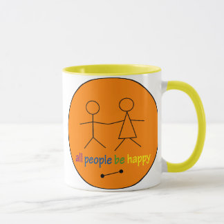 All People Be Happy Large Mug