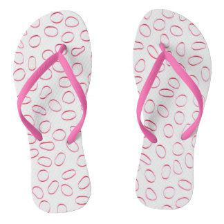 All Pink Cool Cute Elegant Unique Pattern Flip Flops