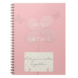 All Pink Flower Butterflies Notebook