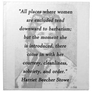 All Places - Harriet Beecher Stowe Napkin