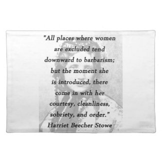 All Places - Harriet Beecher Stowe Placemat